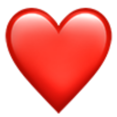 freetoedit emoji red heart iphone