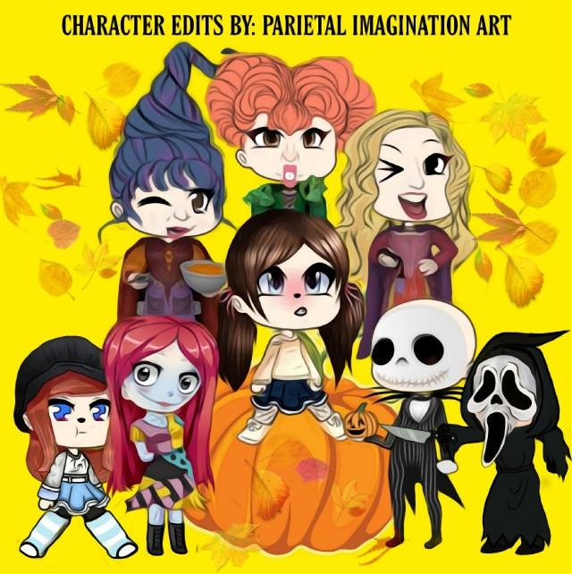 Here are all the Gacha Characters that I created! Lots of fun! Happy Gacha Halloween!  #gacha #gachahalloween #nightmarebeforechristmas #hocuspocus #scream #originaledits #fx #vip #madewithpicsart #parietalimagination  💗💗💗💗💗