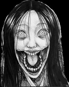 sticker horror gore japan anime freetoedit