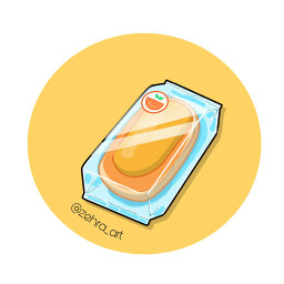 draw drawingtool cartoon Bread orange