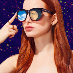 freetoedit night sun glasses girl