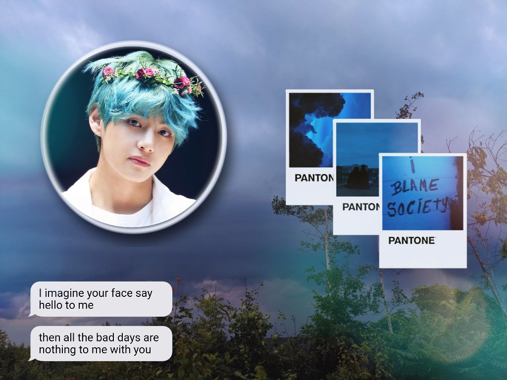 #taehyung #bts #picsart #pantone #aestetic #mask this is pretty much a similar edit as the one in PicsArt so credits to them #V #freetoedit