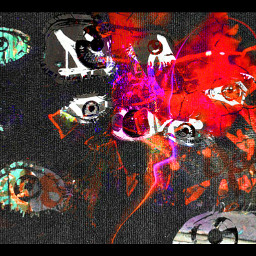 art mystyle eye neon cloth freetoedit