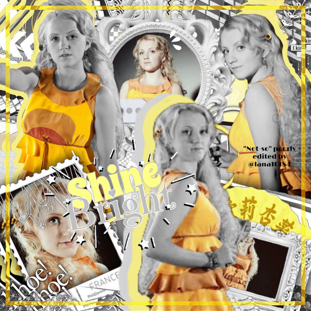 """Luna Lovegood 💛  💛 I really don't like this one 😅  💛 Also, I only wrote """"'not-so' poorly edited by @lana10184 """" beacuse everyone told me to change my watermark. So I don't want to seem self absorbed, it's just meant to be a joke. Yeah. That's it. 😂💕   ⚡️ Quote of the Day ⚡️ """"Aim for the moon- even if you miss, you'll land among the stars.""""    ✨Follow my indeedo bandito, @nina_cool_kid12 ✨    Legends in my own eyes 💖:  @nina_cool_kid12  @the-seventh-weasley @bibliophile28 @ginnythepooh_13 @lidpop13 @daydreamxchely @gardenrosee @valegatito @keepitharrypotter    More to come soon 💓    #Luna #Lovegood #LunaLovegood #Harry #Potter #HarryPotter #Potterhead #hp #Hogwarts #Yellow #YellowAesthetic #HogwartsHouse #Ravenclaw #RavenclawHouse #Wizard #Witch #freetoedit #remixit #Edit #HogwartsPride                                                                                               you cant spell stock boy without o boy"""
