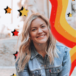 freetoedit stars stripes girl portrait