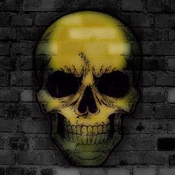 spooky halloween skeleton skull freetoedit freetoeditremix