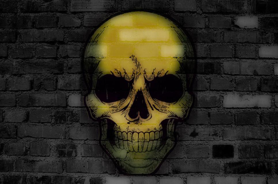 just a halloween thing usin my sticker #spooky #halloween #skeleton #skull #freetoedit #freetoeditremix