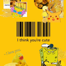 aesthetic bobesponja pikachu yellow yellowaesthetic freetoedit