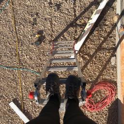 pclookdown lookdown lookingdown ladder atwork
