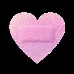 bandaid pink heart band aid freetoedit