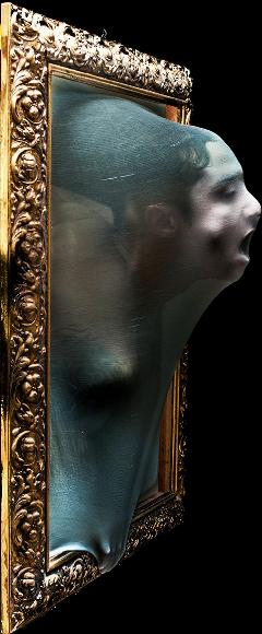 portrait scary fear face stickers freetoedit