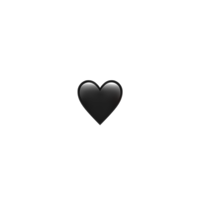 ##iPhone #Heart #iphoneheart #blackheart  #Emoji  #Tumblr #emoji #freetoedit #freetoedit
