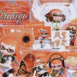 splatoon splatoon2 orange inklinggirl videogameedit freetoedit
