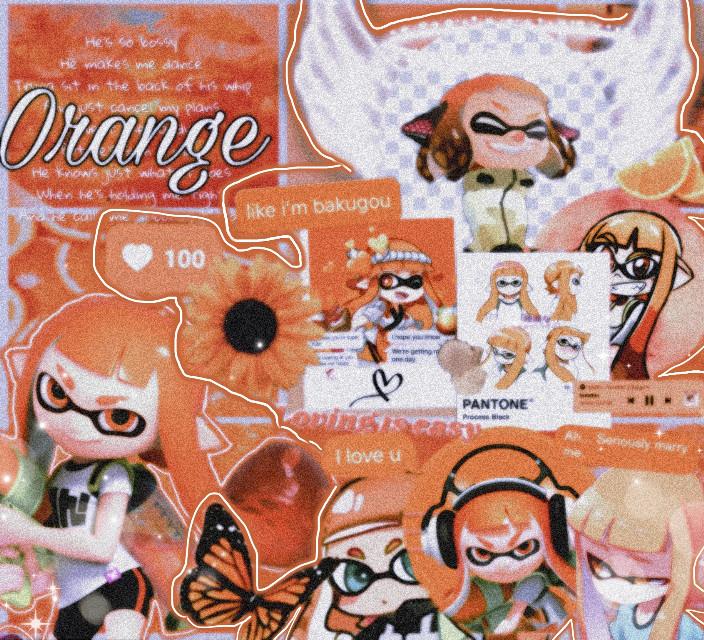 #splatoon #splatoon2 #orange #inklinggirl #videogameedit #videogameart #freetoedit