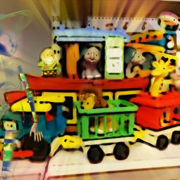 photography toys shelf charity shop