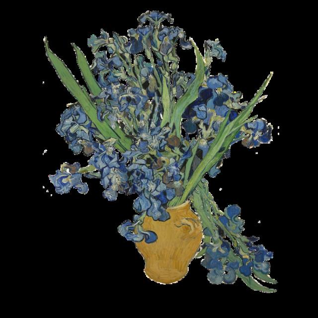 #flowers #vangogh #vangoghart #art #artistic #painting  #aesthetic #vase #painting #blueflower