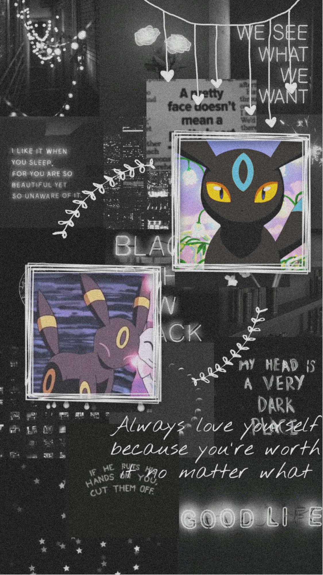Umbreon Pokemon Black Aesthetic Image By Vaun Vaun
