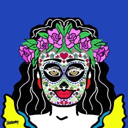 diadelosmuertos drawingart creativeart digitalart digitaldrawing