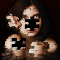 freetoedit puzzleeffect drawingtool 3d woman