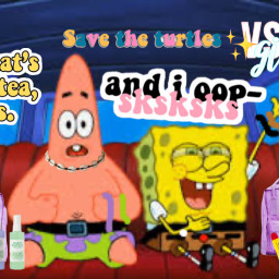 freetoedit vscogirls spongebobsqaurepants spongebobandpatrick
