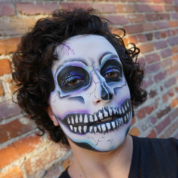 halloween skullmakeup easymakeup halloweenmakeup