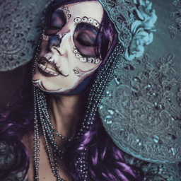 portrait katrina dayofthedead makeup turquoise