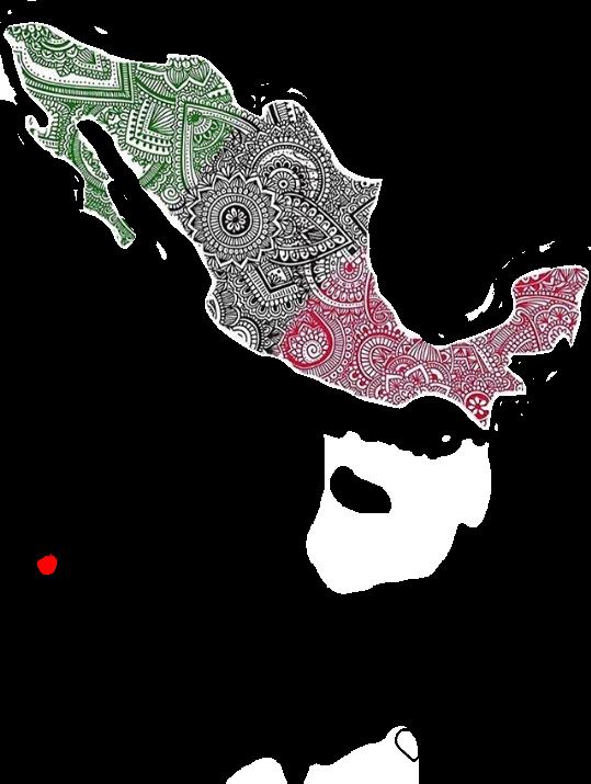 #mexico #verde #blanco #negro #henna #tricolor
