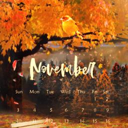 freetoedit srcnovembercalendar november autumn fall scenery