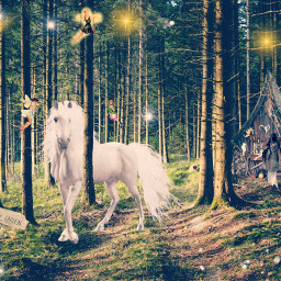 freetoedit magical witch unicorn real