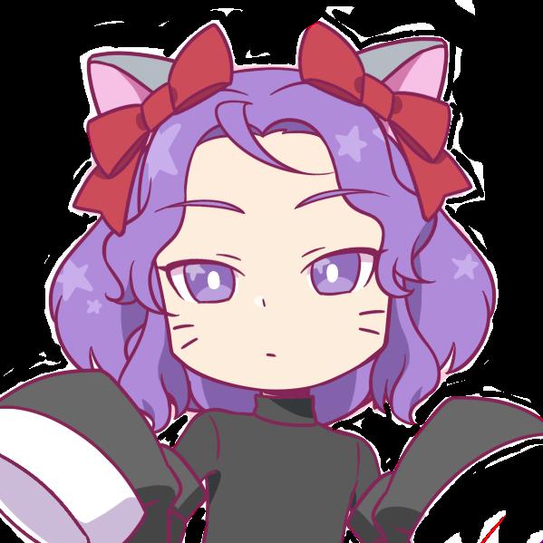 #purple #cat #catgirl #chibi #cute