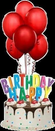 birthday cake ballons happybirthday freetoedit