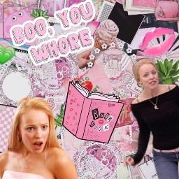 meangirls reginageorge pink burnbook edit