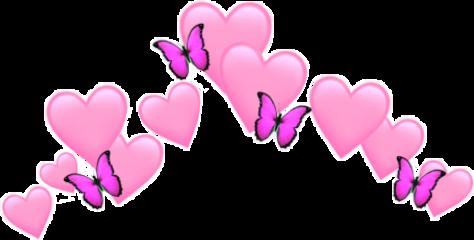 heart butterfly crown smile freetoedit