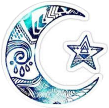 lua moon night stickers freetoedit