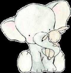 elephantandrabbit elephant rabbit hug freetoedit