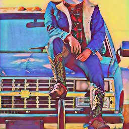 cowboy chevy chevytruck boots spurs