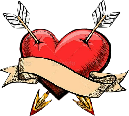 freetoedit heart stabbedheart cupid heartwithbanner