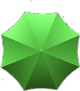 雨伞 伞 绿色 雨