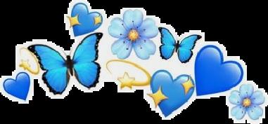 #Jirtee #crown #blue #stars #flowers #aesthetic #sticker