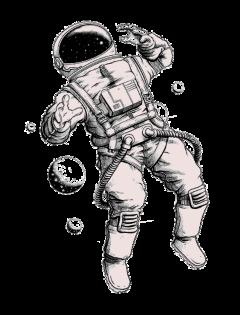 astronauta espacio universo hombre luna freetoedit