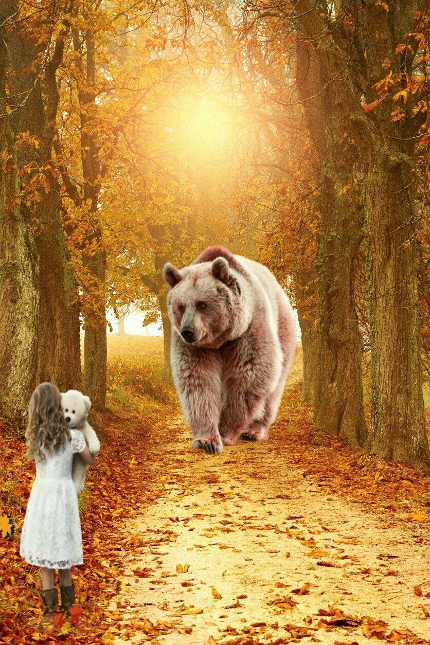 #freetoedit  #picsartedit #myedit #bear #girl