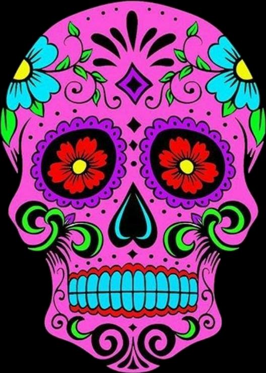 #sugarskullsticker #💀 #skullsticker #prettyinpink #ilovesugarskulls #💜💜 #fortheloveofskulls #freetoedit #greatday #grateful #sticker #i love