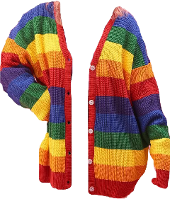 rainbow sweater cardigan sweaters colorblock freetoedit