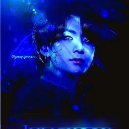 yonggi1kcontest jungkook jeonjungkook jk kookie bts kpop maknae background lockscreen aesthetic manipulation manipulationedit lights fantasy magical water blue black