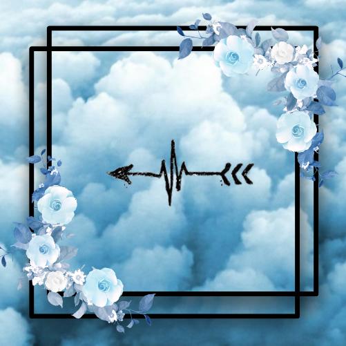 #freetoedit  #flowers #blueflowers #blackbox #arrow #blueclouds #clouds #anime #blue