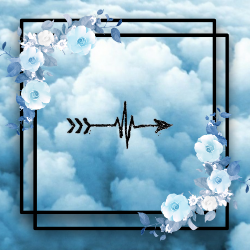 #freetoedit  #flowers #blueflowers #blackbox #arrow #blueclouds #clouds #anime #blue