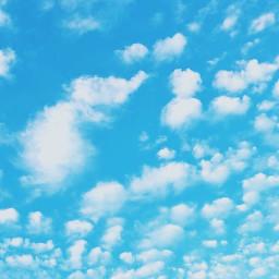 freetoedit sky blue cloud ciel