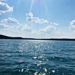 lake blue nature love water freetoedit