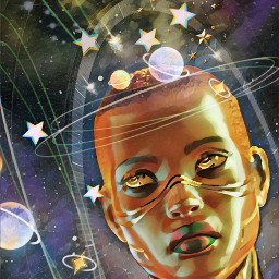 freetoedit galaxycrown alien woman space