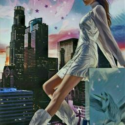 freetoedit stars moon skyline cityscape
